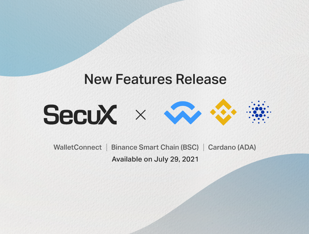 WalletConnect, BSC and ADA support on July 29, 2021